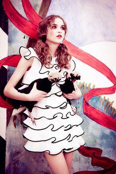 """Rasa Zukauskaite in """"Magical Mystery Tour"""" byEllen von UnwerthforLula Magazine#13, Fall 2011"""