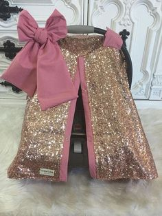Rose Gold and Blush / CAR SEAT COVER / car seat canopy /