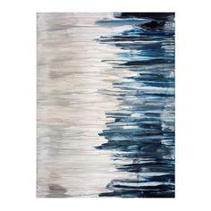 H&F COLD RAIN CANVAS ART   Hand Painted Abstract   1.5 inch Gallery Wrap