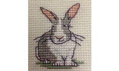 Mouseloft Mini Cross Stitch Kit - Trevor the Rabbit, Stitchlets Collection