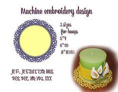 Machine embroidery designs.  tatting от ImilovaCreations на Etsy