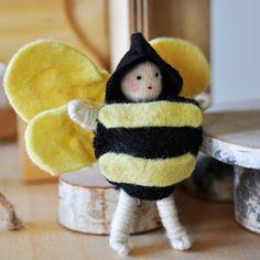 Bumble Bee Fairy | Hand Made Fairy | Play Fairy | Imagination Toys