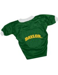 Even your dog can cheer on #Baylor football with his or her very own football jersey!