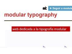 tipografia modular