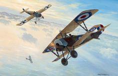 Nieuport 16 Albert Ball vs Fokker E.III, by Mark Postlethwaite