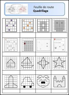 Repérage sur quadrillage-fiches d'autonomie cycle 2 Math Games, Learning Activities, Activities For Kids, Lessons For Kids, Art Lessons, Geo Board, Tangram, Pix Art, Math Addition