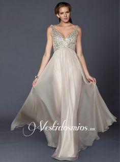 Escote En V vestido de noche