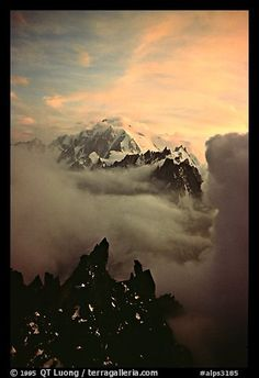 Mont Blanc, Les Drus. Alps, France