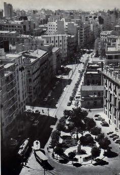 Calle Colón, años 50 Valencia City, Alicante, City Photo, Madrid, Barcelona, River, Photography, Cadillac, Outdoor