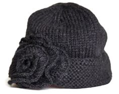 Beanie with rosette