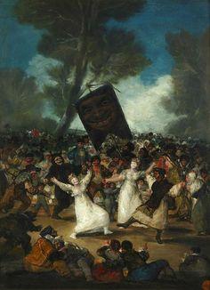 Il funerale della sardina; Francisco Goya; olio su tela; 1815-20; Real Academia de Bellas Artes de San Fernando, Madrid, Spagna.