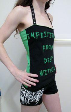Devourment Halter Top Women's Death Metal Shirt by DarkStormDesign on Etsy