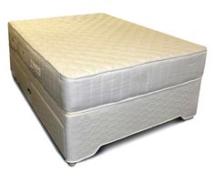 Small Double Silver Ortho Divan Set - open coil mattress - different storage options available for the base - Available for next day delivery