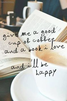 A book and coffee is always good :) - Coffee and Books Happy Coffee, Book And Coffee, I Love Coffee, Coffee Coffee, Morning Coffee, Coffee Reading, Drink Coffee, Coffee Life, Coffee Break