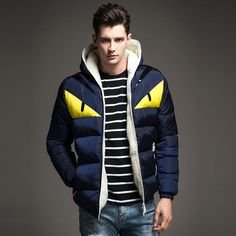 New Fashion winter warm men's Parkas hooded Jacket