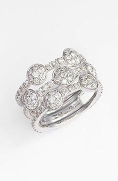 Free shipping and returns on Kwiat 'Moonrise' Diamond Stack Ring (Nordstrom Exclusive) at Nordstrom.com. A fused stack of white-gold ring bands offers a no-fuss stacked look to a handcrafted ring ablaze with pavé-set diamonds.