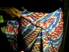 How do I wear a simple batik cloth # 1