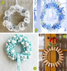 25+ Creative #DIY Holiday Wreaths! #Christmas