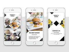 Henry's Diner Mobile UI Concept  by Leigh Le Roux