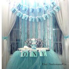 Breakfast at Tiffany's Happy Birthday  Banner by SuttonandCo, $26.00