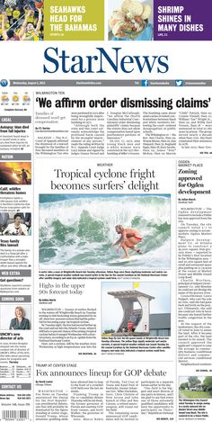 Front page for Wednesday, Aug. 5, 2015