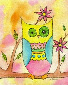 """""""Oh, Wise One"""" - Original Fine Art for Sale - Watercolor and Ink - © Kali Parsons - http://kaliparsons.blogspot.com"""