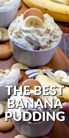 Banana Pudding Desserts, Best Banana Pudding, Banana Dessert, Banana Pudding Recipe With Cream Cheese, Banana Pudding Condensed Milk, Best Pudding Recipe, Nilla Wafer Banana Pudding, Southern Banana Pudding, Homemade Banana Pudding