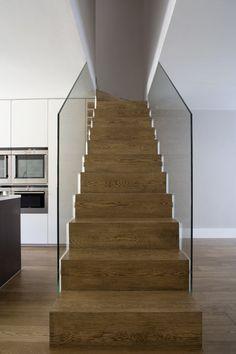 steel cut string stair