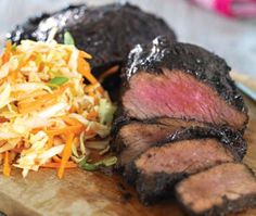 Black Pepper Crusted Tri-Tip and Sweet and Spicy Slaw #RedWhiteBBQ