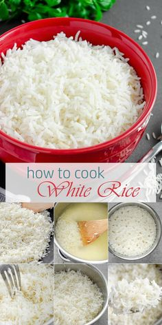 A simple but reliable stove-top method of How to Cook White Rice to achieve perfectly tender and fluffy texture every time olgainthekitchen whiterice basmatirice sidedish healthy easyrecipe dinner breakfast howto Stove Top Rice, Rice On The Stove, Cook Rice On Stove, White Rice Recipes, Rice Recipes For Dinner, Simple Rice Recipes, Perfect White Rice, Cooking White Rice, Cooking Rice