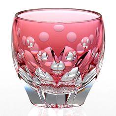 EdoKiriko Glass Pink JAPAN