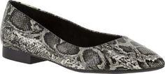 Bella Vita Women's Vivien II Flat Black/White Snake Synthetic Size 10 W