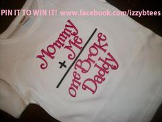 Pin it to Win it! Izzy B will be giving away FIVE saying shirts! Contest ends 8.31 and winners will be announced 9.1 at www.facebook.com/izzybtees. Pin as much as you like!