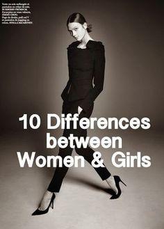 10 Differences Between Women