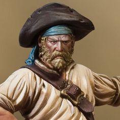 (54 mm.) Pirata Bucanero. 1650