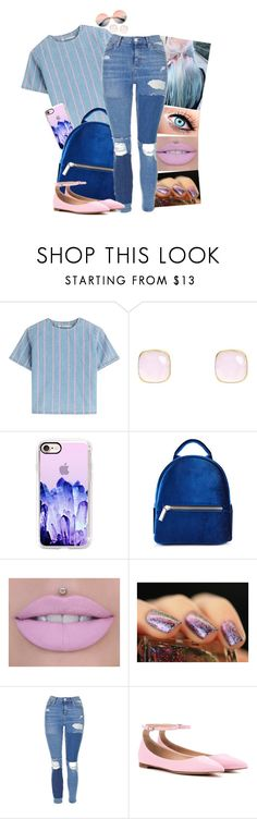 """Crystals"" by atra1999 ❤ liked on Polyvore featuring T By Alexander Wang, Latelita, Casetify, Topshop, Gianvito Rossi, ZeroUV, RoyalBlue, youth and pastelpink"