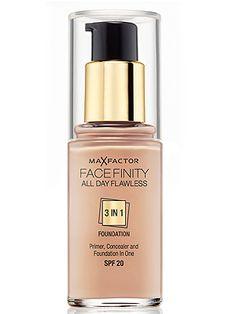 Want a primer, foundation and concealer with a SPF20 in one beautiful bottle? Yeah we do! The oil-free, matte-finish formula also promises to be long-lasting and stop the midday shine whilst being breathable, sitting lightly on the skin. It feels easy, but works hard – what's not to love? Max Factor All Day Flawless 3-in-1 Foundation, £8.99, Boots   -Cosmopolitan.co.uk