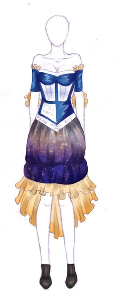 TARDIS Dress by ~nataliemm97 on deviantART