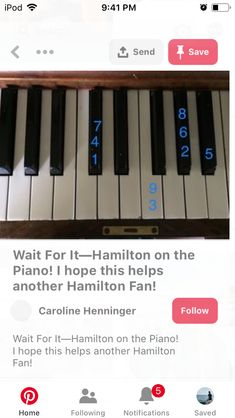 Wait for It Hamilton Sheet Music, Hamilton Musical, Flute Sheet Music, Piano Music, Hanging Tree, Easy Piano Songs, Music Chords, Digital Sheet Music, And Peggy