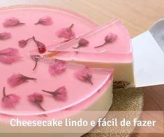 O cheesecake mais bonito que você vai ver hoje