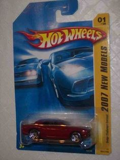 2007 New Models #1 Dodge Challenger Concept Dark Red #2007-01 Collectible Collector Car Mattel Hot Wheels 1:64 Scale