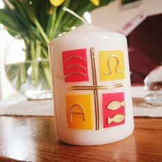 Entwurf für Osterkerze  Kerzen  Pinterest