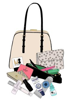 Stockholm-based illustrator Kristina featured a What's In My Bag & did this adorable illustration (above)! In my kate spade bag: Rebecca Minkoff wallet (sold out in gray ostrich, similar)…
