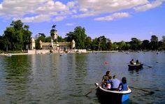 AIL Madrid - École despagnol: Partie 1 : Les parcs de Madrid - Il y en a un pour tous  Le lac du parc du #Retiro #Madrid