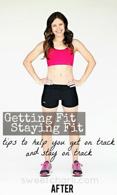 Getting fit and staying fit- these are great tips!