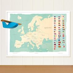 Europe map Europe, Map, Education, Poster, Shopping, Home Decor, Russia, Decoration Home, Room Decor