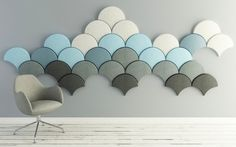 Love these! Can't find any US distributor or pricing tho :( ---These Scale-Shaped Tiles Will Soundproof Your Room With Style