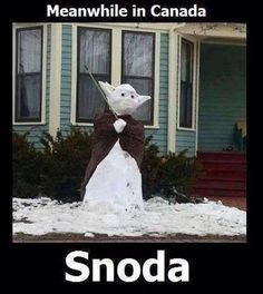 40 Hilarious Winter and Snow Memes for When You're Freezing Your Face Off There is no acceptance level.Time to grab the supplies and run!Lucy says it.Nothing but ice and white. Meanwhile In Canada, Funny Memes, Hilarious, Snow Sculptures, Snow Art, Winter Fun, The Funny, Nerdy, Funny Pictures