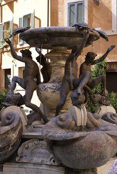 Rome, Piazza Mattei, Fontana della Tartarughe The turtles are replicas of those scuplted by Gian Lorenzo Bernini