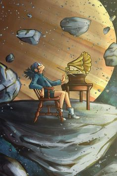 ⚓I was so inspired but the new gorillaz mv that I had to draw noodle. Gorillaz Fan Art, Gorillaz Noodle, Wallpapers Geek, Animes Wallpapers, Sunshine In A Bag, The Wombats, Jamie Hewlett, Poster S, Cartoons